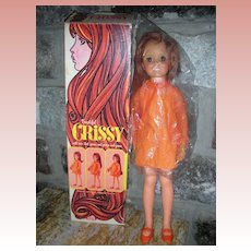 Vintage Ideal Grow Hair Crissy Doll Mint in Box 1969
