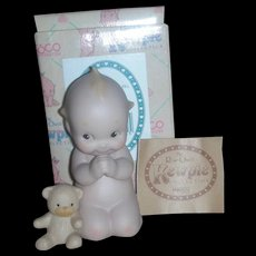 Rose O'Neill Kewpie Collection Action Figurine Doll Praying with Teddy