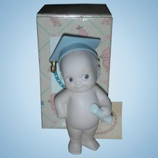 Rose O'Neill Kewpie Collection Action Figurine Doll Kewishly Yours Graduation Figurine