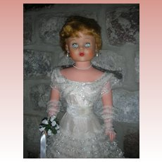 """Vintage Delux Reading Betty The Beautiful Bride Doll 1950's Grocery Store Dolls 30"""""""