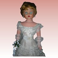 Vintage Delux Reading Betty The Beautiful Bride Doll 1950's Grocery Store Dolls 30""