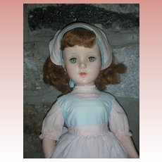 "Vintage Hard Plastic Walker Doll 21"" 1950's Sweet Sue Type"