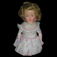 Vintage Ideal Shirley Temple Doll 12 inch 1950's with Original Tagged Dress