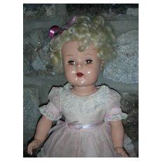 Vintage 1950's Beehler Arts Raving Beauty Doll Hard Plastic Doll Platinum Hair Artisan