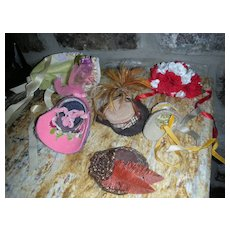 Vintage Lot of Fancy Doll Bonnets & Hats Some with Labels