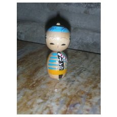Kokeshi Japanese Wooden Doll 2.25 inch Vintage