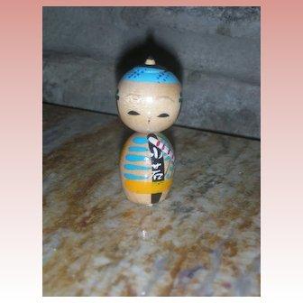 Kokeshi Japanese Wooden Doll 2.25 inch Vintage