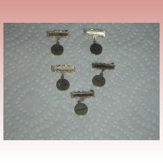 Madame Alexander Quintuplet Doll Brass Name Plates