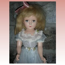 Vintage Madame Alexander Wendy Ann Doll 17 inch Hard Plastic All Original