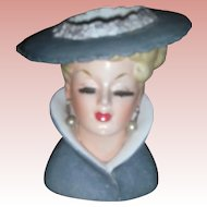 Vintage Lady Headvase Planter Napco 1959 Head Vase Brush Lashes