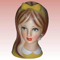 Vintage Napco Teen Head Vase Planter Headvase