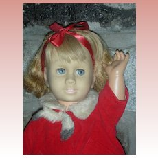 Vintage First Issue Prototype Mattel Chatty Cathy Doll Wearing Tagged Christmas Coat