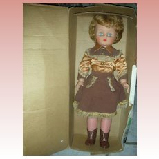 Vintage Deluxe Reading Little Miss Fashion Cowgirl Doll 20""