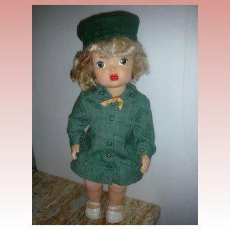 Vintage Terri Lee Doll Wearing Girl Scout Uniform