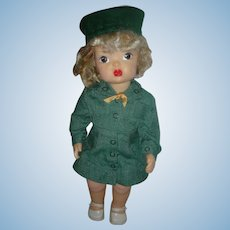 Vintage Terri Lee Doll Wearing Girl Scout Uniform