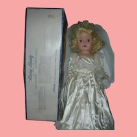 "Hard Plastic 1950's Artisan Raving Beauty Bride Walking Doll in Box 20"" All Original Toni Type"