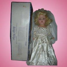 "Hard Plastic 1950's Artisan Raving Beauty Bride Walking Doll in Box 20"" All Original Toni Type"