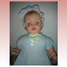 "HTF Large 27"" Effanbe Cuddle Up Baby Doll 1950's"