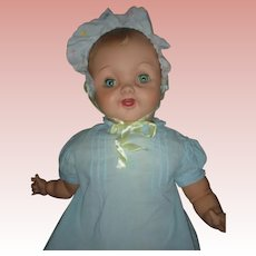 "HTF Large 27"" Effanbe Cuddle Up Baby Doll 1950's"