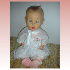 "Vintage 1950's Sun rubber Gerber Baby Doll 11"" Baberton USA HTF Drink and Wet"