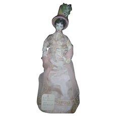 "1975 NIADA Exhibition Artist Doll by Rene Harrision 1814 Tall Bonnet 16"""