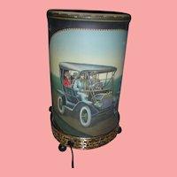 Vintage 1957 Econolite Motion Lamp with Antique Cars Mid Century Modern
