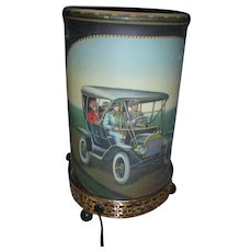 Vintage 1957 Econolite Motion Lamp with Antique Cars Mid Century Modern