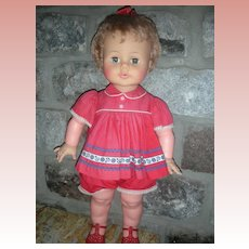 "Vintage 1960's Ideal Kissy Doll 22"" All Original Works"