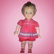 "Vintage 1960's Ideal Kissy Doll 22"" All Original Works"
