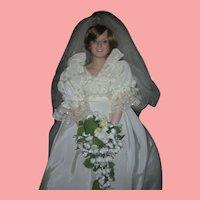 Princess Diana Royal Wedding Bride Doll Danbury Mint Circa 1986