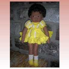 Vintage 18 Inch Doll Artist Cloth Character Doll