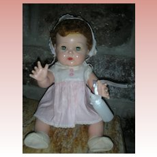 "Vintage 1950's American Character Tiny Tears Doll 16"" All Original Still Cries"