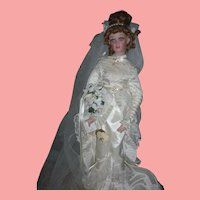 Doll Artist Jan Mclean Victorian Bride Fashion Doll Celia 21 Inch