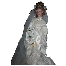 Doll Artist Jan Mclean Victorian Bride Fashion Doll Celia 21 Inch