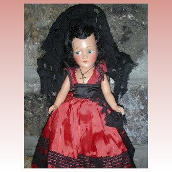 "Vintage All Composition 12"" Character Doll Compo Dolls"