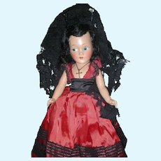 """Vintage All Composition 12"""" Character Doll Compo Dolls"""