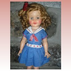 Vintage 1950's Ideal Shirley Temple Doll 14 Inch