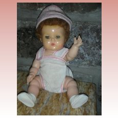 "Vintage American Character Tiny Tears Doll Small Size 10.5"" Rock A Bye Eyes"
