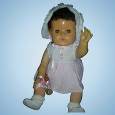 """Rare 20"""" Brunette Version American Chracter Tiny Tears Doll All Original Drink and Wet 1950's"""