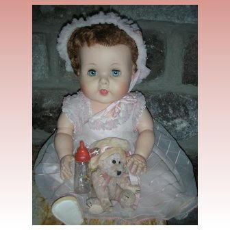 """Vintage American Character Baby Toodles 21"""" Doll All Original Playpal"""