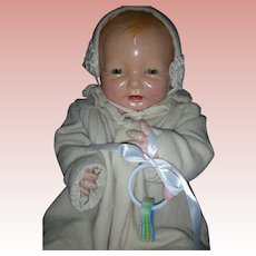 Vintage Effanbee Large 26 Inch 1920's Bubbles Doll Composition Baby