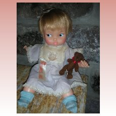 Rare Ideal 1960's Tiny Thumbelina Tabitha Doll Works Wearing Original Dress