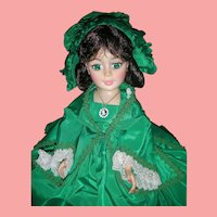 Madame Alexander 21 Inch Portrait Scarlett O'Hara Doll Green Dress