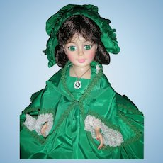 Madame Alexander 21 Inch Portrait Scarlett O'Hara Doll Green Dress