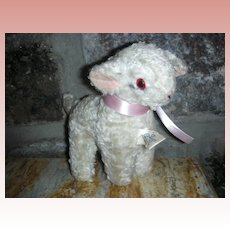 Early Knickerbocker Stuffed Toy Lamb For Dy-Dee or Tiny Tears Doll