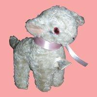Early Knickerbocker Stuffed Toy Lamb For Dy-Dee or Tiny Tears Doll
