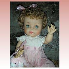 Vintage American Character Vinyl Toddler Doll Wearing Original Playsuit