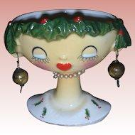 Vintage Headvase Holt Howard Christmas Head Vase Planter 1959