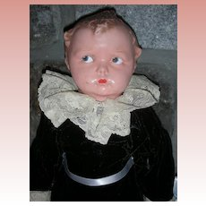 Early Effanbee Baby Grumpy Composition Doll
