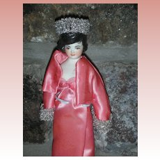 Vintage Sherman Smith Peg Wooden Doll Jacke Kennedy